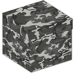 Initial Camouflage Grey Storage Stool 12   by Mariart