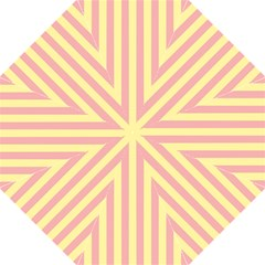 Pink Yellow Stripes Line Golf Umbrellas by Mariart