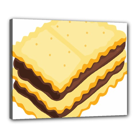 Sandwich Biscuit Chocolate Bread Canvas 20  X 16  by Mariart