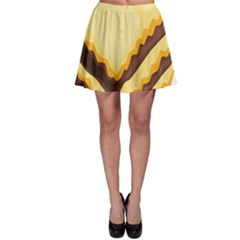 Sandwich Biscuit Chocolate Bread Skater Skirt by Mariart