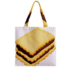 Sandwich Biscuit Chocolate Bread Grocery Tote Bag by Mariart