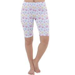 Pretty Colorful Butterflies Cropped Leggings