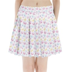 Pretty Colorful Butterflies Pleated Mini Skirt