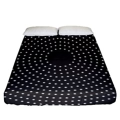 Round Stitch Scrapbook Circle Stitching Template Polka Dot Fitted Sheet (queen Size) by Mariart