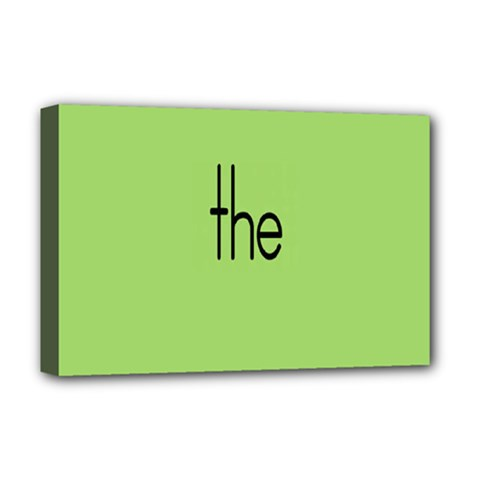 Sign Green The Deluxe Canvas 18  X 12   by Mariart