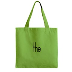Sign Green The Zipper Grocery Tote Bag by Mariart