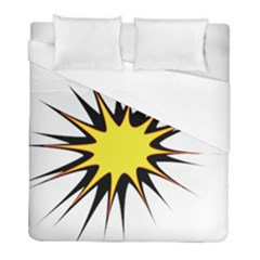Spot Star Yellow Black White Duvet Cover (full/ Double Size) by Mariart