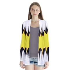 Spot Star Yellow Black White Cardigans by Mariart