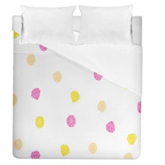 Stone Diamond Yellow Pink Brown Duvet Cover (queen Size) by Mariart
