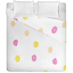 Stone Diamond Yellow Pink Brown Duvet Cover Double Side (california King Size) by Mariart