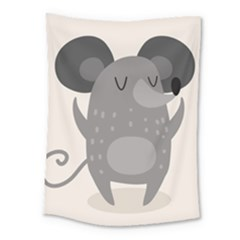 Tooth Bigstock Cute Cartoon Mouse Grey Animals Pest Medium Tapestry by Mariart