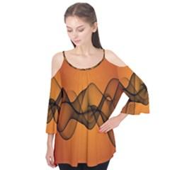 Transparent Waves Wave Orange Flutter Tees