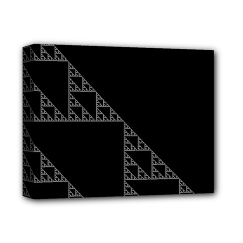 Triangle Black White Chevron Deluxe Canvas 14  X 11  by Mariart