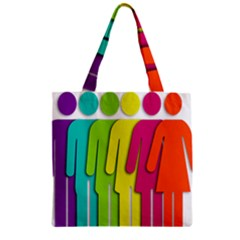 Trans Gender Purple Green Blue Yellow Red Orange Color Rainbow Sign Zipper Grocery Tote Bag by Mariart