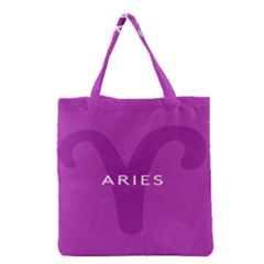 Zodiac Aries Grocery Tote Bag by Mariart