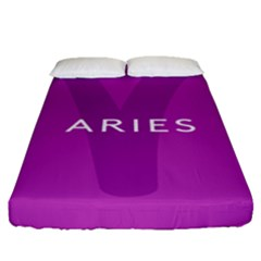 Zodiac Aries Fitted Sheet (queen Size) by Mariart