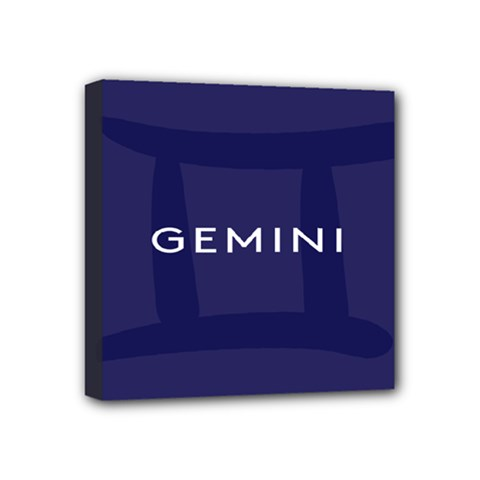 Zodiac Gemini Mini Canvas 4  X 4  by Mariart