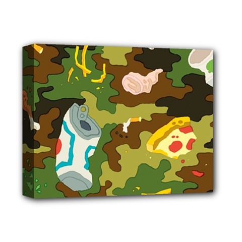 Urban Camo Green Brown Grey Pizza Strom Deluxe Canvas 14  X 11  by Mariart