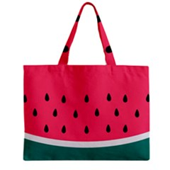 Watermelon Red Green White Black Fruit Zipper Mini Tote Bag by Mariart