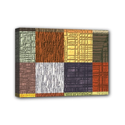 Blocky Filters Yellow Brown Purple Red Grey Color Rainbow Mini Canvas 7  X 5  by Mariart