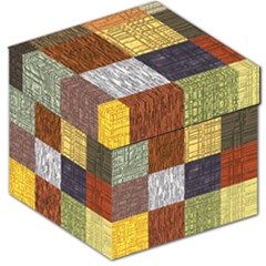 Blocky Filters Yellow Brown Purple Red Grey Color Rainbow Storage Stool 12   by Mariart