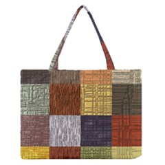 Blocky Filters Yellow Brown Purple Red Grey Color Rainbow Medium Zipper Tote Bag by Mariart