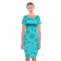 Pattern Classic Short Sleeve Midi Dress by Valentinaart
