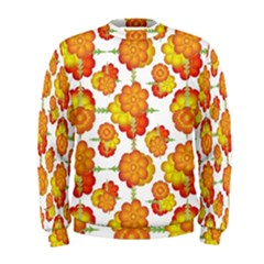 Colorful Stylized Floral Pattern Men s Sweatshirt by dflcprintsclothing