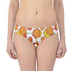Colorful Stylized Floral Pattern Hipster Bikini Bottoms by dflcprintsclothing