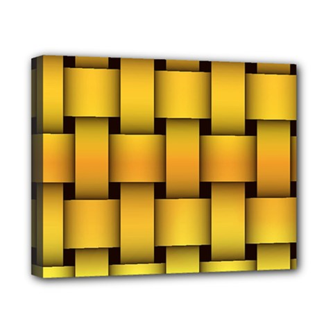 Rough Gold Weaving Pattern Canvas 10  X 8  by Simbadda