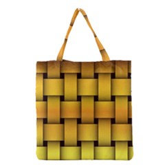 Rough Gold Weaving Pattern Grocery Tote Bag by Simbadda