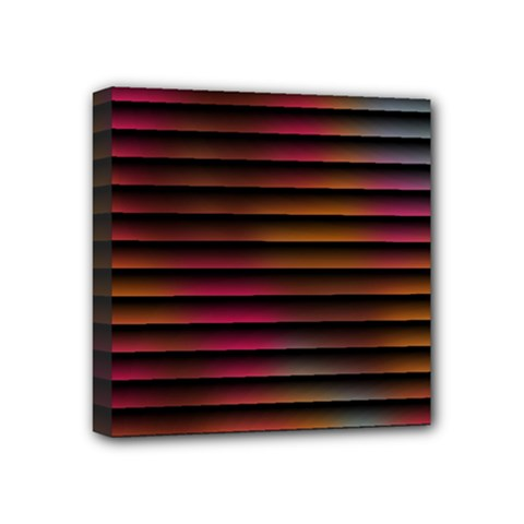 Colorful Venetian Blinds Effect Mini Canvas 4  X 4  by Simbadda