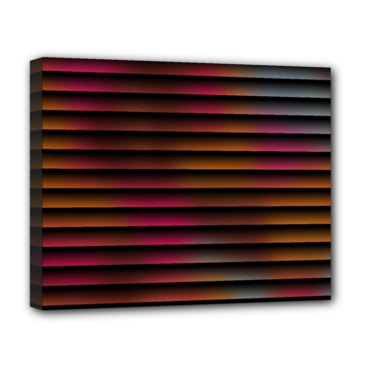 Colorful Venetian Blinds Effect Deluxe Canvas 20  x 16