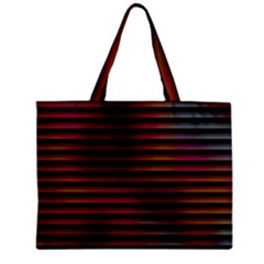 Colorful Venetian Blinds Effect Zipper Mini Tote Bag