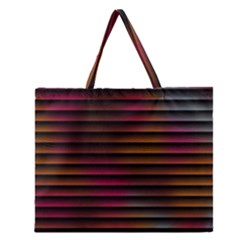 Colorful Venetian Blinds Effect Zipper Large Tote Bag by Simbadda