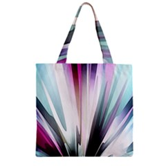 Flower Petals Abstract Background Wallpaper Zipper Grocery Tote Bag by Simbadda