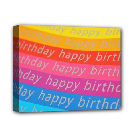 Colorful Happy Birthday Wallpaper Deluxe Canvas 14  x 11