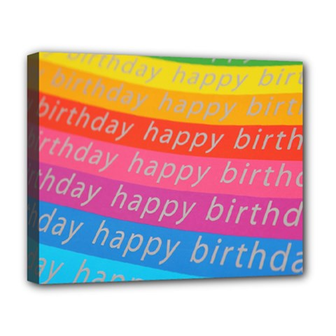 Colorful Happy Birthday Wallpaper Deluxe Canvas 20  x 16