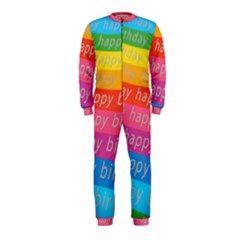 Colorful Happy Birthday Wallpaper OnePiece Jumpsuit (Kids)