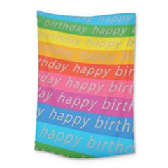 Colorful Happy Birthday Wallpaper Small Tapestry