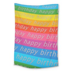 Colorful Happy Birthday Wallpaper Large Tapestry