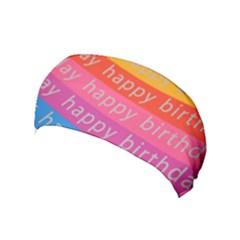Colorful Happy Birthday Wallpaper Yoga Headband
