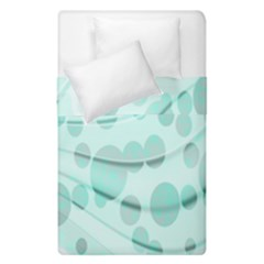 Abstract Background Teal Bubbles Abstract Background Of Waves Curves And Bubbles In Teal Green Duvet Cover Double Side (single Size) by Simbadda