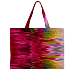 Abstract Pink Colorful Water Background Zipper Mini Tote Bag by Simbadda