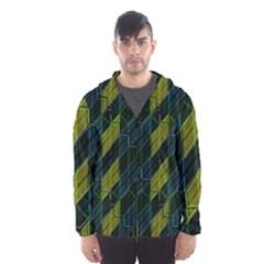 Modern Geometric Seamless Pattern Hooded Wind Breaker (men) by dflcprintsclothing