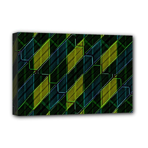 Futuristic Dark Pattern Deluxe Canvas 18  X 12   by dflcprints