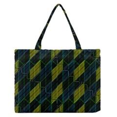 Futuristic Dark Pattern Medium Zipper Tote Bag by dflcprints