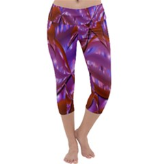 Passion Candy Sensual Abstract Capri Yoga Leggings by Simbadda
