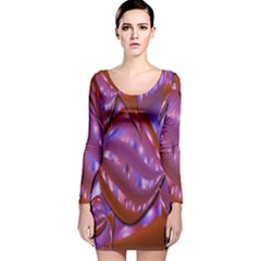 Passion Candy Sensual Abstract Long Sleeve Velvet Bodycon Dress by Simbadda