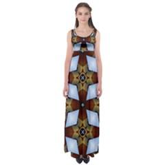 Abstract Seamless Background Pattern Empire Waist Maxi Dress